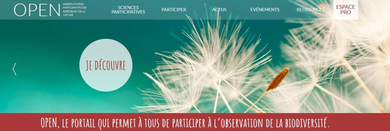 Découvrez OPEN un site pour participer à l'observation de la biodiversité